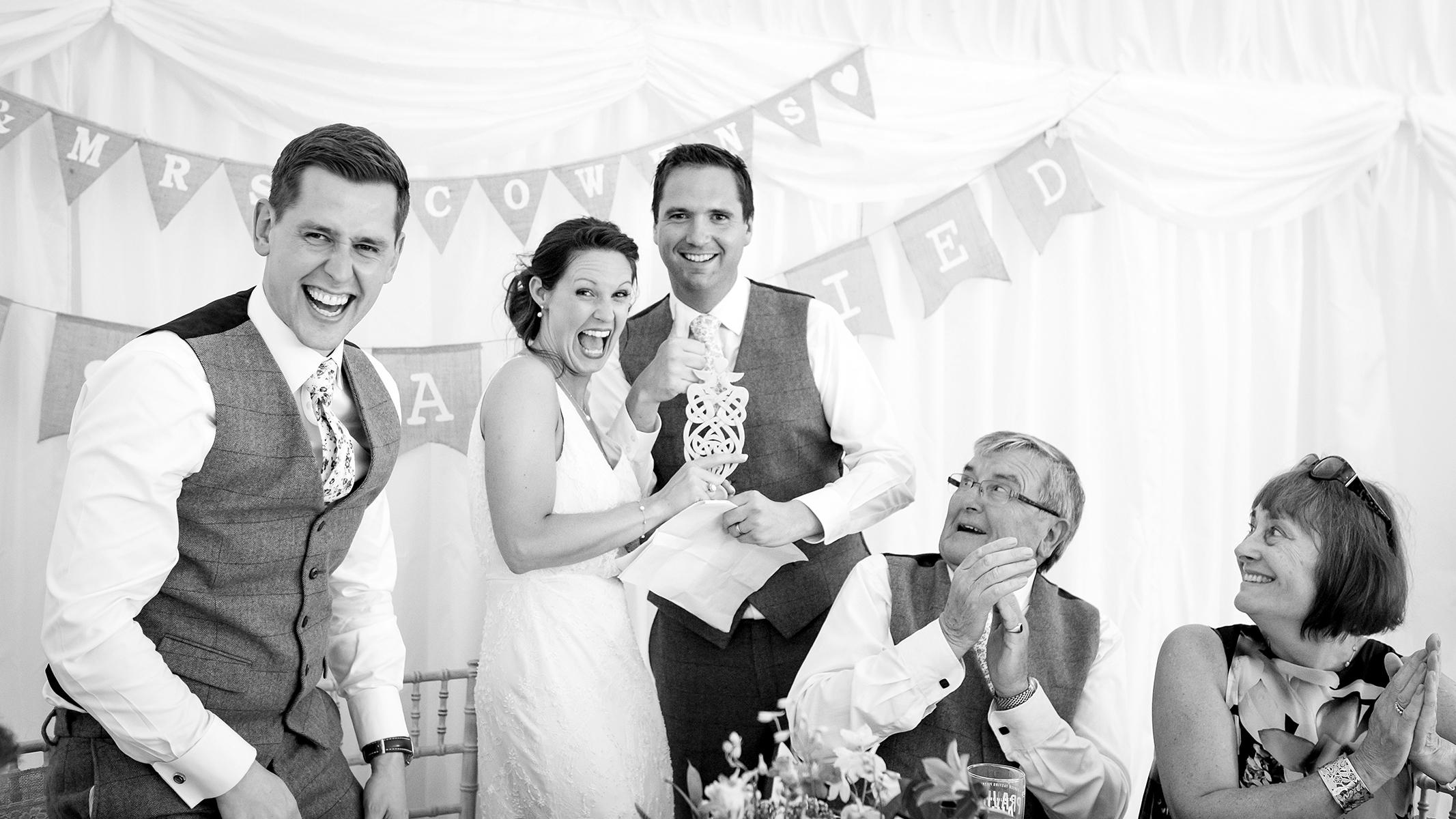 wedding speech shot