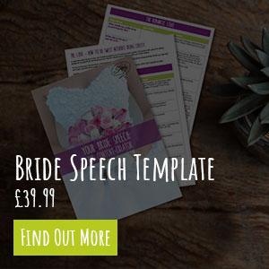Bride Speech Template