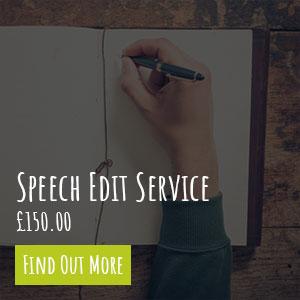 Wedding Speech Edit Service