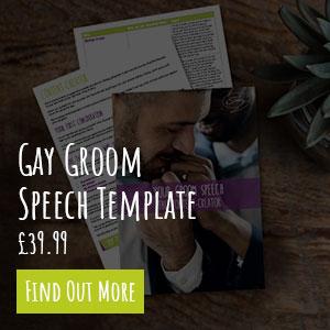 gay groom speech template