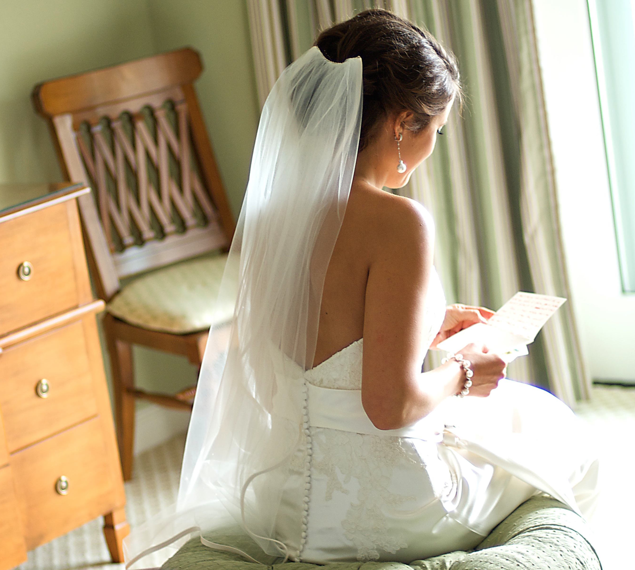 Love letter to bride